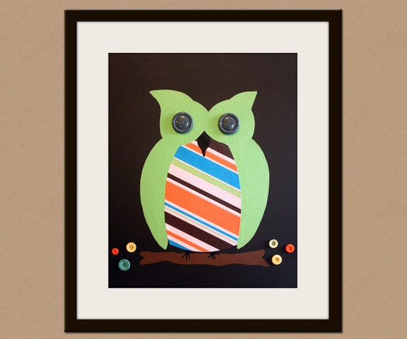 Retro Owl Themed Nursery Decor