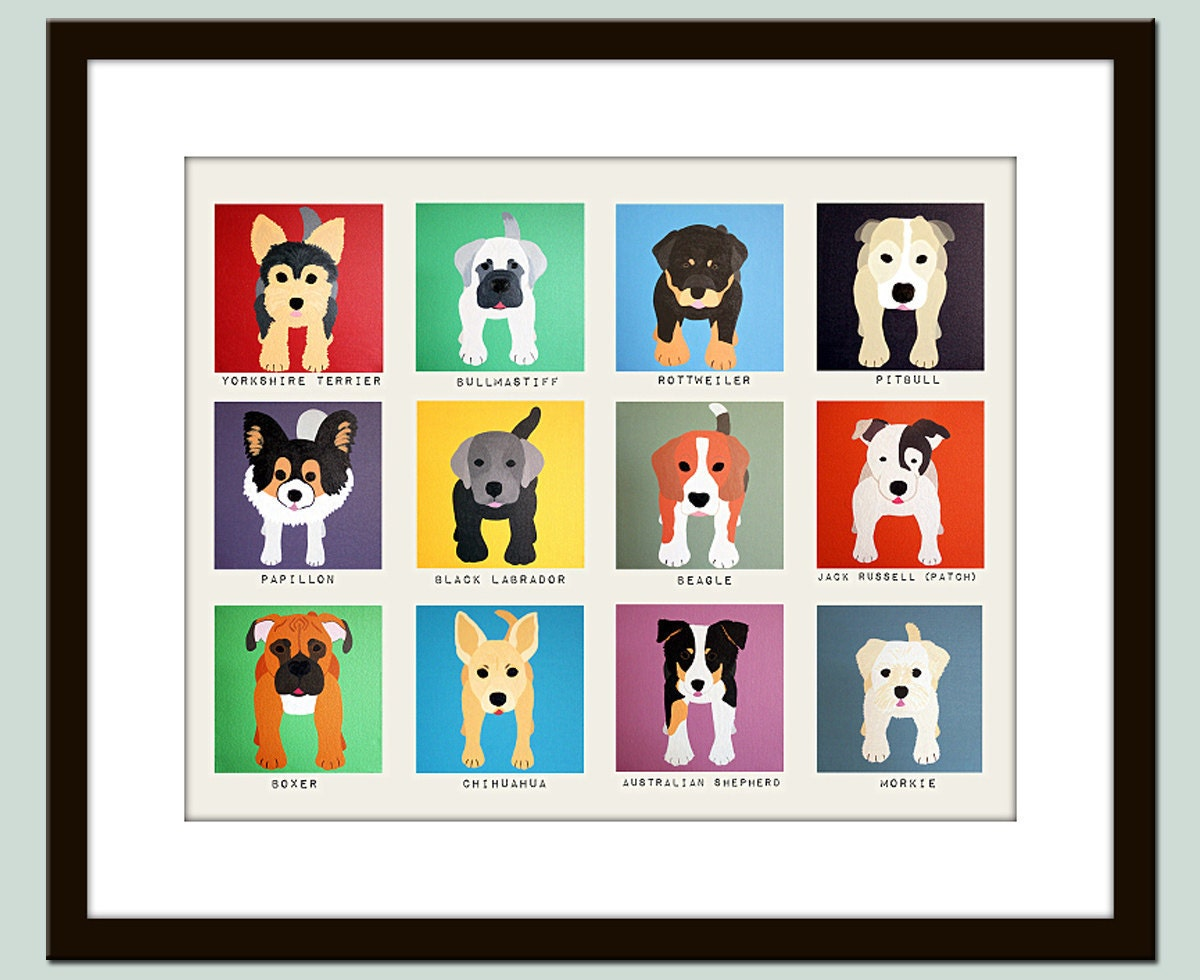 cute dog wall prints dog nursery pictures kids wall art kids