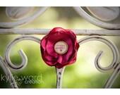 Ring. Mon Amie - Raspberry Blossom Fabric Flower Ring