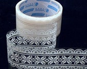 Transparent Deco tape Victorian White Lace - Snow flake (05)