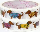 Deco adhesive Tape Stickers Dachshund dogs DTB13