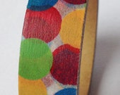 Ballons Washi Masking Tape Roll Adhesive Stickers - Green, red, blue and yellow