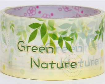 SALE 30% off Green leaves Deco Tape adhesive Stickers DTB108
