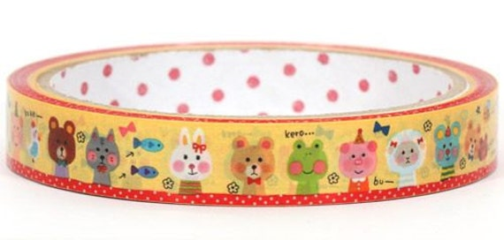 Deco Tape Adhesive Stickers - Cute Little Animal Party DT180