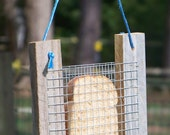 Bread or Toast Bird Feeder, Primitive Rustic Bird Feeder, Reclaimed Wood Bird Feeder, Weathered Natural Wood Bird Feeder