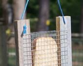 Primitive Rustic Bread or Toast Bird Feeder - Recycled Rough Cedar