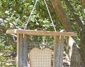 Bird Feeder with Roof - Primitive Rustic Bread or Toast Bird Feeder - Reclaimed Weathered Wood Bird Feeder
