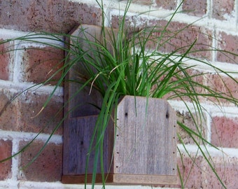 Rustic Wood Planter Box, Rustic Home Decor, Farmhouse Decor, Reclaimed Natural Weathered Wood Planter Box
