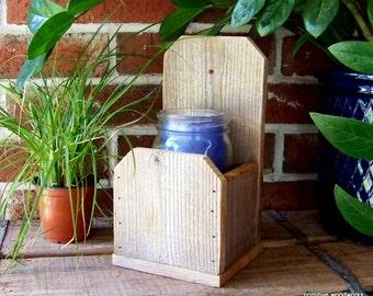 Wooden Planter Box, Rustic Home Decor, Farmhouse Decor, Reclaimed Wood Planter Box, Hanging Planter Box