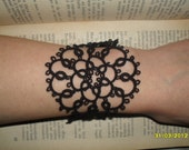Gothic tatted bracelet
