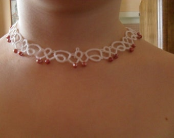 Tatted Lace Necklace - Elegant Bride