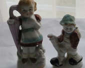 Cute and Collectible made in JAPAN  Boy Girl Figurines set of 2