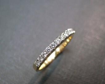 Anniversary Diamond Wedding Ring in 14K Yellow Gold