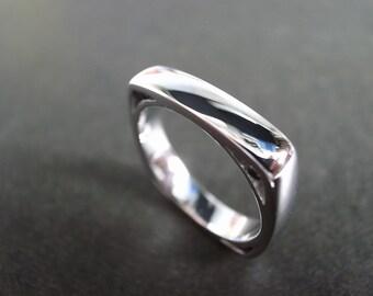 Men's Diamond Wedding Ring 14K White Gold, Men Wedding Band, Mens Ring, Mens Gift, Black Diamond Engagement Ring, Black Diamond Wedding Band