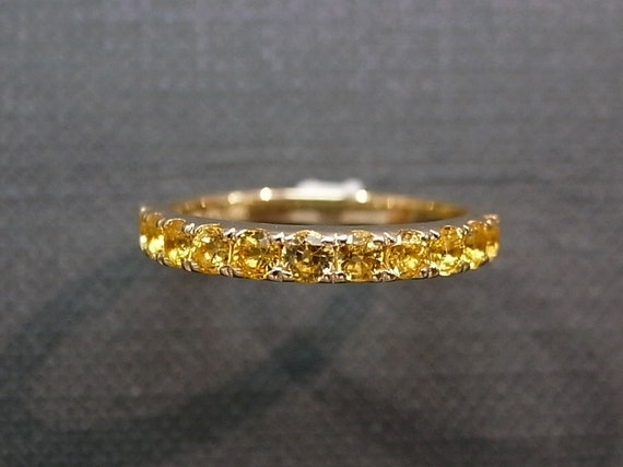 Yellow Sapphire Wedding Ring in 14K Yellow Gold