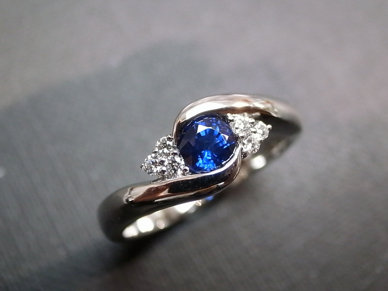 blue sapphire rings diamond rings engagement rings wedding band gemstone rings women jewelry personalized jewelry 14k white gold - Sapphire Wedding Rings