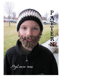 PATTERN--Preteen Bearded Beanie