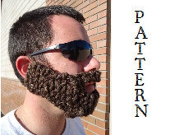 PATTERN--Adult KNIT Beard
