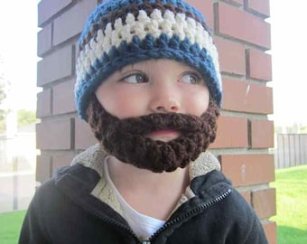 20% OFF Kids ULTIMATE Bearded Beanie Windsor Blue Mix