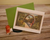 Florida Lucky Palm notecard, made from a vintage Florida postcard, thank you, birthday, gift