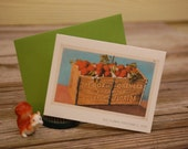 Box of Oranges notecard, made from a vintage Florida postcard