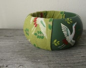 Birds flying handpainted wooden bracelet