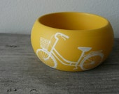 i love bicycles wooden bracelet