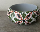 All tiled up handpainted wooden bracelet