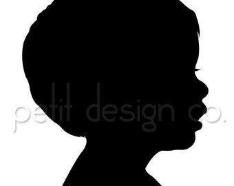 Custom Digital Portrait Silhouette - Free Shipping