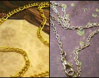 Silver or Gold Colored Chain Uprade - 18 to 25 inches (46cm to 63cm)