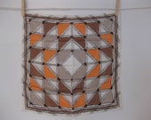 Gorgeous 50s Silk Geometric Small Square Scarf