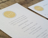 Modern Monogram Wedding Invitation