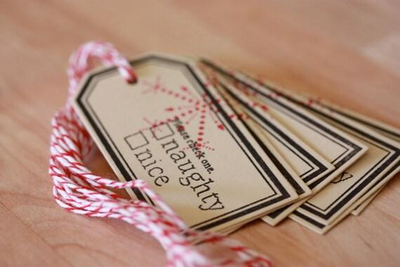 Naughty or Nice - Mini Gift Tags