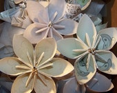 10 Victorian Origami Kusudama Paper Flower Pack With Fancy Centers