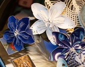 Origami Flowers of Lavender Blue-Dilly Dilly Five Fancy Included