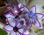 Wedding Centerpiece Origami Kusudama Cranes and Flowers