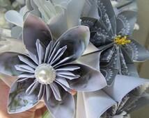 12 Loose Silver Kusudama Flowers