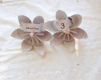 Origami Kusudama Place Cards or Table Numbers For Your Wedding Tables 20 Included personalized