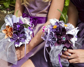 Paper Flower Wedding Bouquet Made to Order 10 Origami Flowers