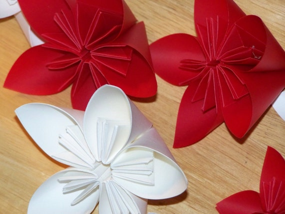 Origami Paper Flowers Set of 12