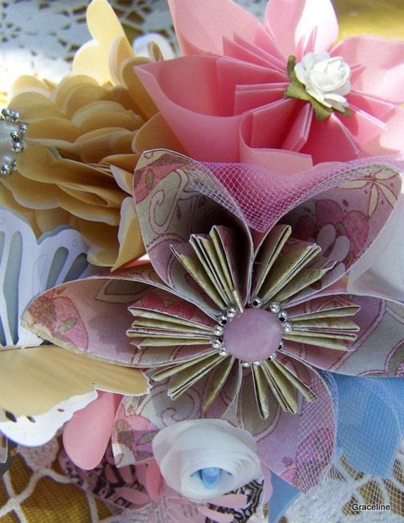 Small Origami Wedding Bouquet