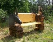 Horse and Saddle bench .