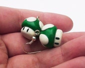One-UP Mario Mushroom Earrings