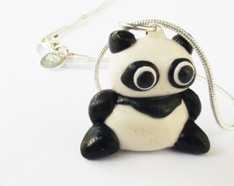 Tiny Panda Necklace