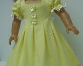Soft yellow knit one piece dress