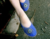 Peacock handmade flats MADE to your MEASUREMENTS