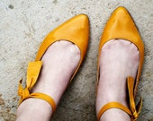 Sunny handmade leather flats, MADE to your MEASUREMENTS