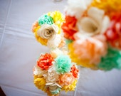 SALE: Paper pompom flowers