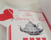 Queen of Hearts Tea Envelopes and Tags - DIY Printable Parties