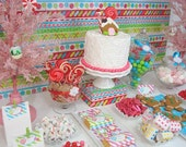 Candy Christmas BIRTHDAY Collection - DIY Printable Parties